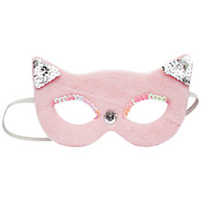 Buy John Lewis Sequin Cat Mask, Pink Online at johnlewis.com