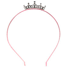 Buy John Lewis Alice Band Tiara, Pink Online at johnlewis.com