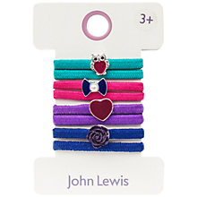 Buy John Lewis Girl's Heritage Charm Elastic Hair Ties, Pack of 8 Online at johnlewis.com