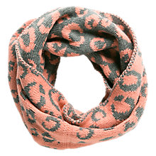 Buy Mango Kids Animal Print Snood, Pink/Grey Online at johnlewis.com