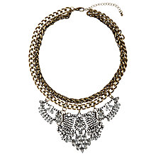Buy COLLECTION by John Lewis Double Chain Tear Drop Statement Necklace, Gold/Clear Online at johnlewis.com