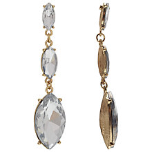 Buy COLLECTION by John Lewis Triple Drop Stud Earrings, Gold/Clear Online at johnlewis.com