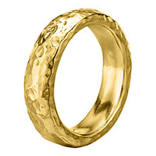 Buy Dower & Hall 18ct Gold Hammered Ring, Yellow Gold Online at johnlewis.com