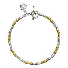 Buy Dower & Hall Caraway Sterling Silver and 18ct Gold Vermeil Rice Bracelet Online at johnlewis.com