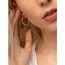 Buy Dower & Hall 18ct Gold Vermeil Small Ripple Hoop Earrings, Gold Online at johnlewis.com