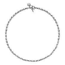 Buy Dower & Hall Sterling Silver Hammered Kube Necklace Online at johnlewis.com