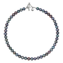 Buy Dower & Hall Freshwater Pearl Single Strand Necklace, Peacock Online at johnlewis.com