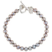 Buy Dower & Hall Sterling Silver Medium Dove Grey Freshwater Pearl Bracelet, Silver Online at johnlewis.com