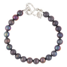 Buy Dower & Hall Sterling Silver Large Peacock Freshwater Pearl Bracelet Online at johnlewis.com
