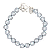 Buy Dower & Hall Sterling Silver Large Dove Grey Freshwater Pearl Bracelet, Silver Online at johnlewis.com