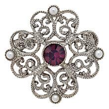 Buy Downton Abbey Silver & Amethyst Pearl Crystal Brooch, Silver/Purple Online at johnlewis.com