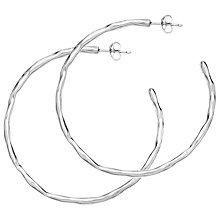 Buy Dower & Hall Sterling Silver Large Waterfall Hoops, Silver Online at johnlewis.com