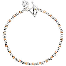 Buy Dower & Hall Sterling Silver and 18ct Rose Gold Vermeil Kubes Bracelet Online at johnlewis.com