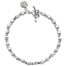 Buy Dower & Hall Nomad Sterling Silver Hammered Kube Bracelet, Silver Online at johnlewis.com