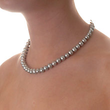 Buy Dower & Hall Sterling Silver Large Dove Grey Freshwater Pearl Necklace Online at johnlewis.com