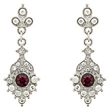 Buy Finesse Crystal Drop Earrings, Silver/Purple Online at johnlewis.com