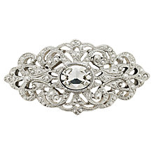 Buy Downton Abbey Belle Epoch Crystal Brooch, Silver Online at johnlewis.com