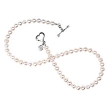 Buy Dower & Hall Freshwater Pearl Single Strand Necklace, White Online at johnlewis.com