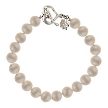 Buy Dower & Hall Sterling Silver Large White Freshwater Pearl Bracelet Online at johnlewis.com