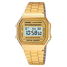 Buy Casio A168WG-9EF Unisex Core Gold Bracelet Watch, Gold Online at johnlewis.com