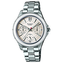 Buy Casio SHE-3508 Women's Sheen Chronograph Watch Online at johnlewis.com