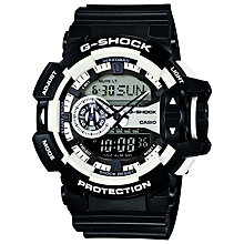 Buy Casio GA-400-1AER Men's G-Shock Watch, Black/White Online at johnlewis.com