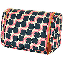 Buy Orla Kiely Large Wash Bag, Navy/Pink Online at johnlewis.com