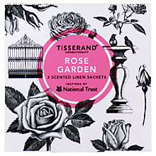 Buy Tisserand Rose Garden Scented Sachets, x 3 Online at johnlewis.com