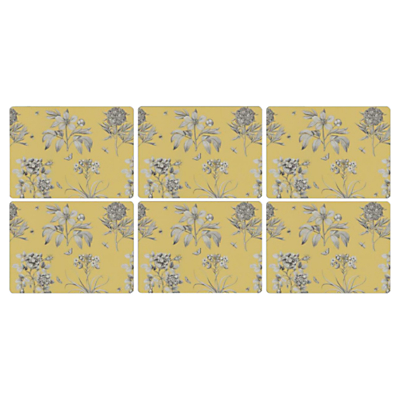 Sanderson for Pimpernel Etchings and Roses Placemats, Set of 6