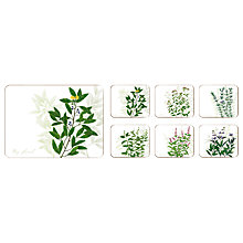 Buy Jason Products Kitchen Herbs Coasters, Set of 6 Online at johnlewis.com