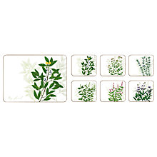 Buy Jason Products Kitchen Herbs Placemats, Set of 6 Online at johnlewis.com