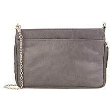Buy Oasis Cally Leather Across Body Bag, Mid Grey Online at johnlewis.com