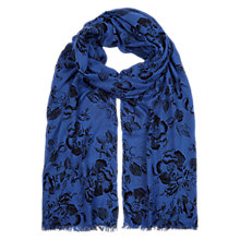 Buy NW3 by Hobbs Crosshatch Flower Scarf, Multi Online at johnlewis.com