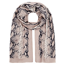 Buy Hobbs Snake Scarf, Granite Grey Online at johnlewis.com