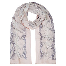 Buy Hobbs Snake Scarf, Barely Pink Online at johnlewis.com