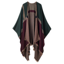 Buy Jigsaw Multi Block Poncho, Green Online at johnlewis.com
