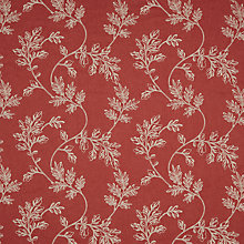 Buy John Lewis Clifton Fabric, Red Online at johnlewis.com