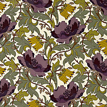 Buy John Lewis Deco Tulips PVC Tablecloth Fabric, Amethyst Online at johnlewis.com