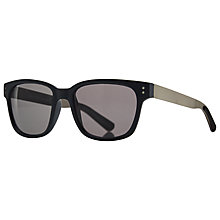 Buy John Lewis D-Frame Metal Arm Sunglasses, Black/Navy Online at johnlewis.com