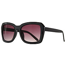 Buy John Lewis Outline Angled Frame Sunglasses, Grey Online at johnlewis.com