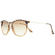 Buy John Lewis Preppy Round Frame Gradient Sunglasses Online at johnlewis.com