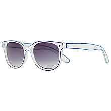 Buy John Lewis D-Frame Sunglasses, Clear/Blue Online at johnlewis.com