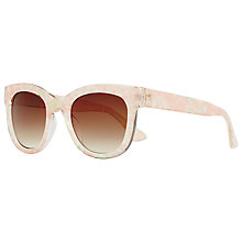Buy John Lewis Pearlised Square Framed Sunglasses, Pink Online at johnlewis.com