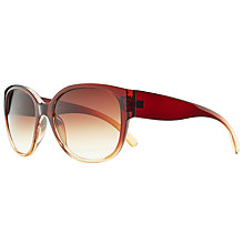 Buy John Lewis Square Frame Gradient Sunglasses, Brown Online at johnlewis.com