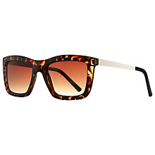 Buy John Lewis Rectangle Frame Sunglasses, Tortoiseshell Online at johnlewis.com
