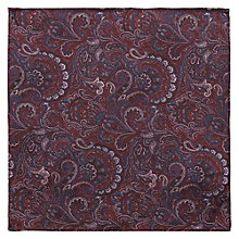 Buy Ben Sherman Tailoring Paisley Print Silk Pocket Square, Oxblood Online at johnlewis.com