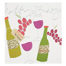 Buy Caroline Gardner Grapes and Wine Birthday Card Online at johnlewis.com
