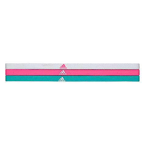 Buy Adidas Colour Hair Bands One Size Pack Of 3 John Lewis