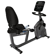 Buy Life Fitness RS3 Lifecycle Recumbent Exercise Bike, Track Console Online at johnlewis.com