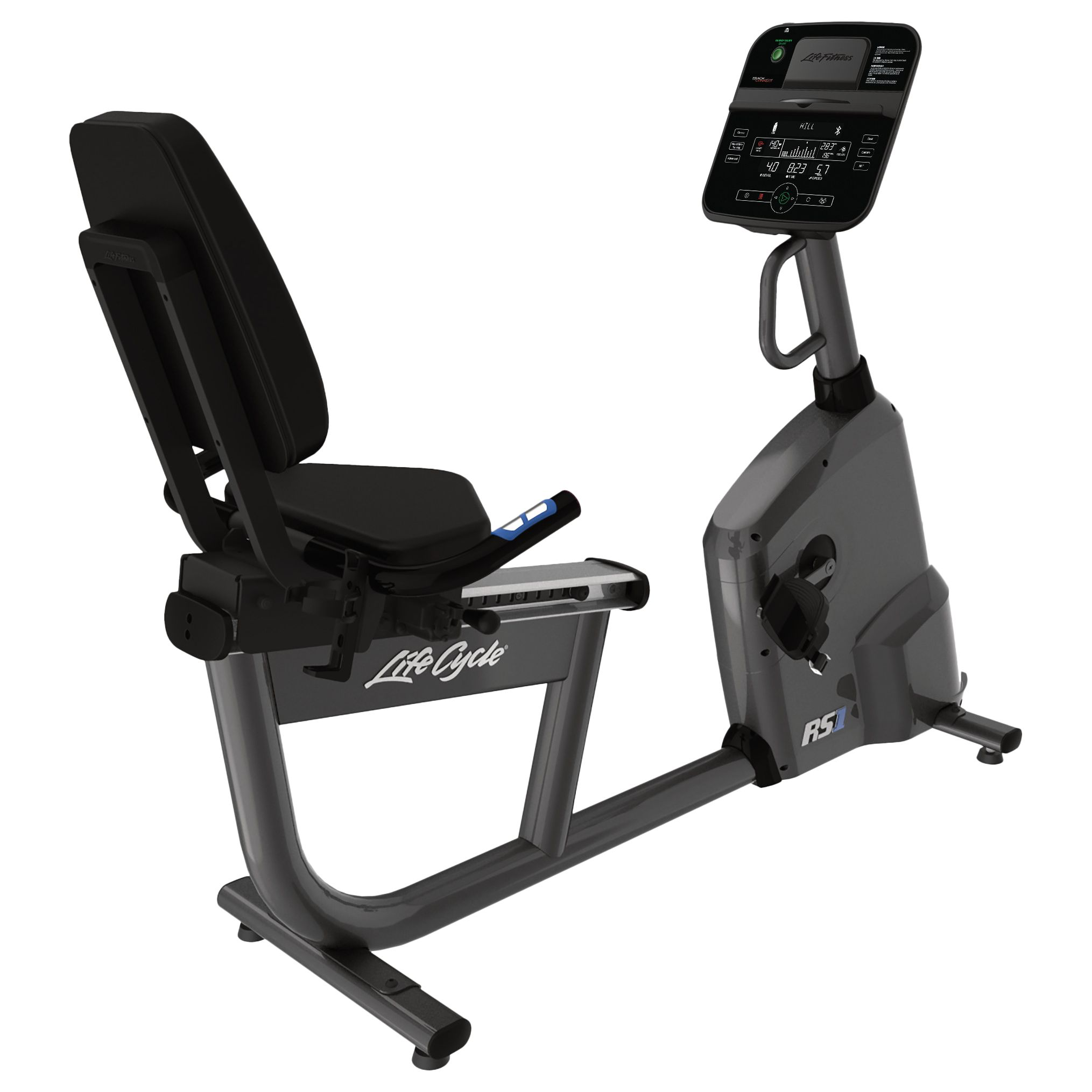 Life Fitness Life Fitness RS1 Lifecycle Recumbent Exercise Bike, Track Console